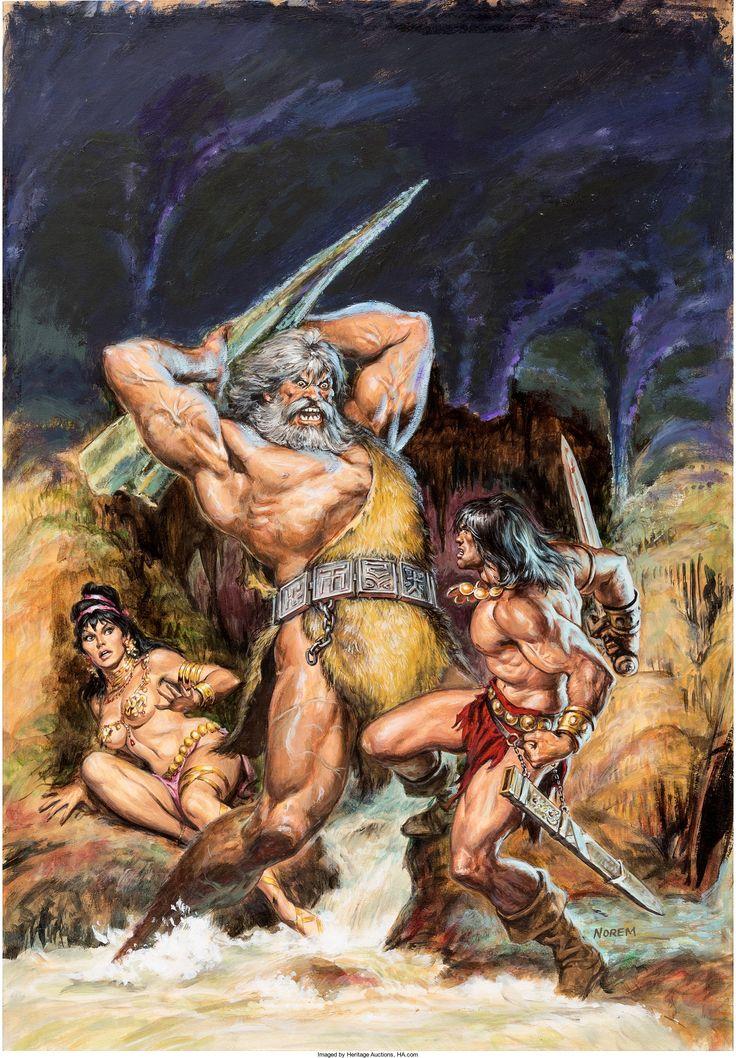 Earl Norem Savage Sword of Conan #28 Cover Original Art (Marvel) - W.B.
