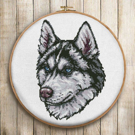 Anchor 18 Count Aida 14 Pack of Husky Dogs//Huskies Animal Cross Stitch Kit