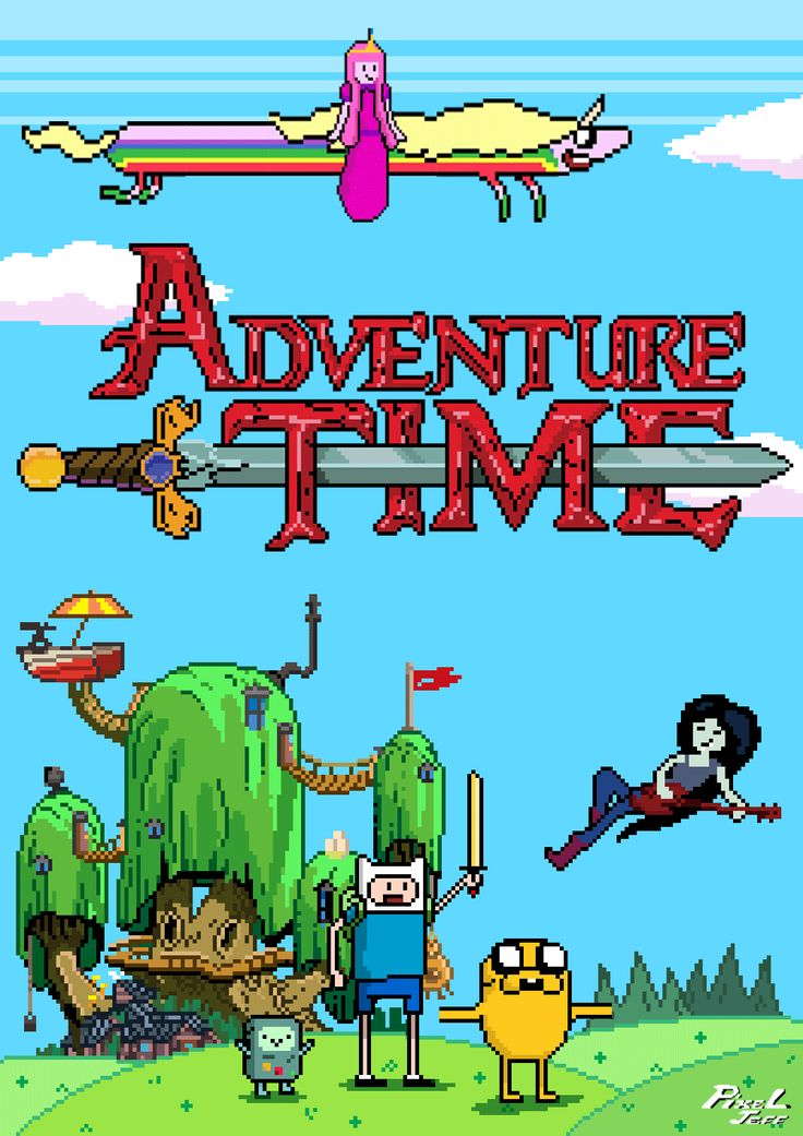 "Adventure Time with Finn & Jake Pixelated - ""PixelJeff"""