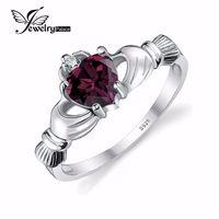 Jewelrypalace alexandriet sapphire ierse claddagh ring solid 925 sterling zilver fashion vriendschap liefde hart sieraden