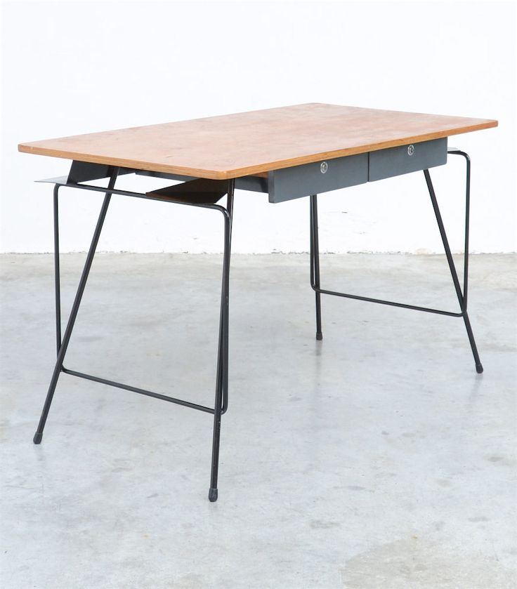 Willy Van Der Meeren desk in the early 1950s, manufactured by Tubax. Sold by vintage design point.