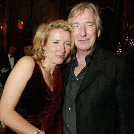"Emma Thompson and Alan Rickman at the ""Love Actually"" (2003) premiere in Paris…"