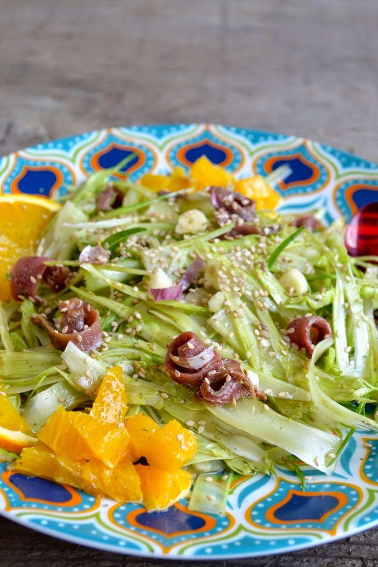 Cucina di Barbara food blog - blog di cucina ricette: Ricetta insalata di puntarelle alla romana