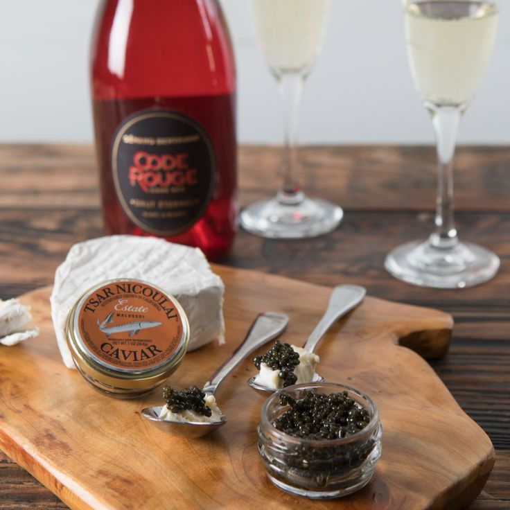 The Best Kind of Love Triangle — Sparkling wine, artisan cheese and premium caviar? We think we're in love! For a sophisticated and savory Valentine's Day treat, romance your special someone with this tasteful trifecta.