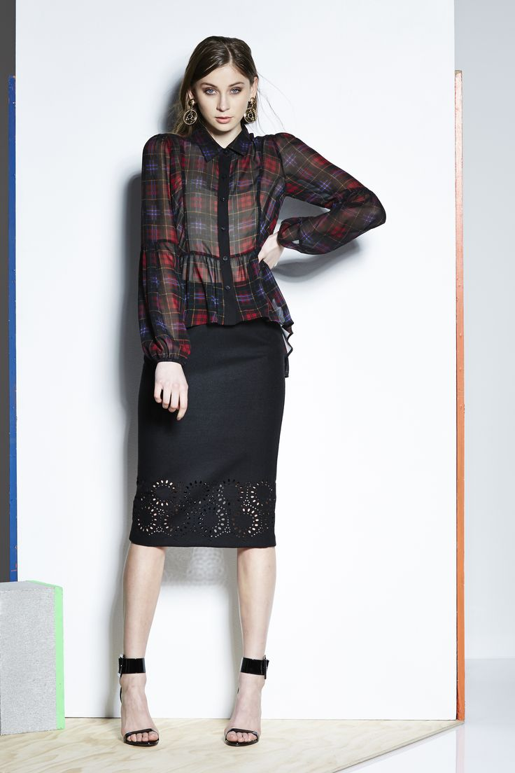 Catalyst 26242 - Lolita Shirt,  26270DD - Midi Laser Cut Pencil Skirt