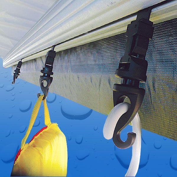 Rv Awning Hanger 4 Pack Tarpline Caravan Awnings Led Strip Lighting Strip Lighting