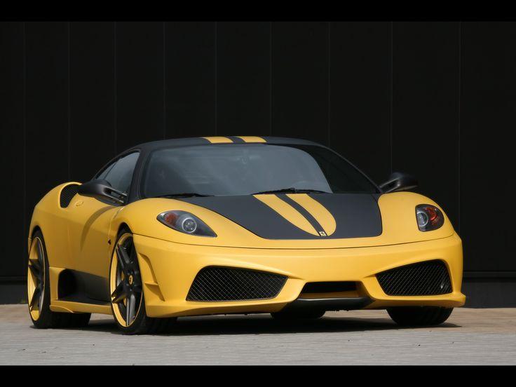 Ferrari-F430-Scuderia-Yellow-Wallpaper-Widescreen