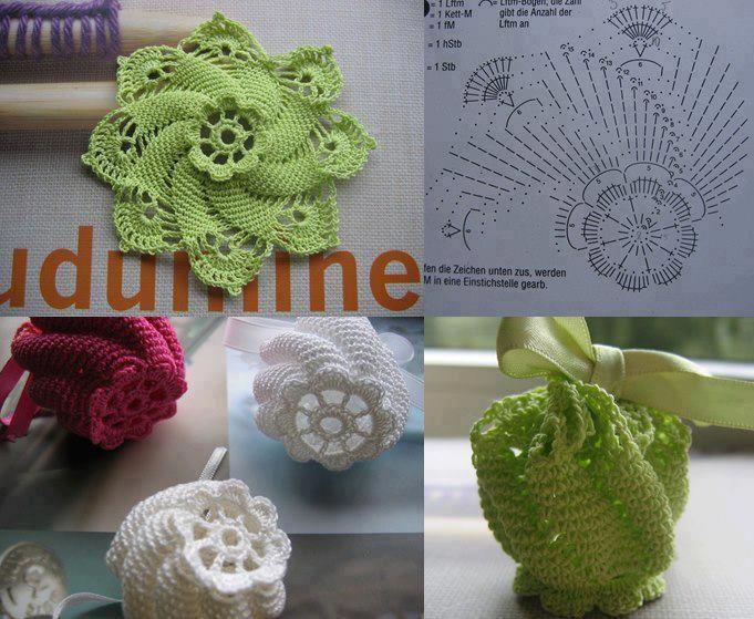 Mejores 231 imágenes de flores a crochet en Pinterest | Flores de ...