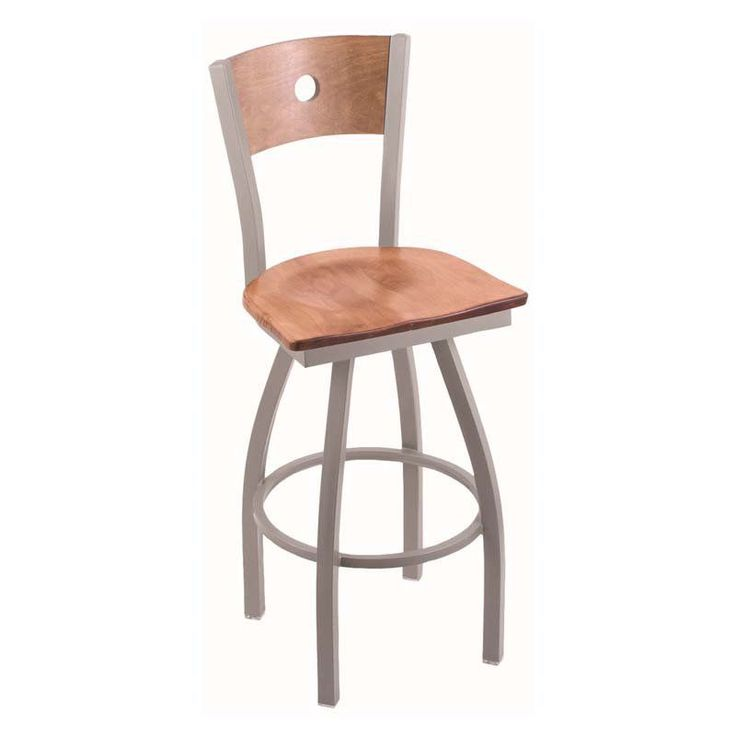 Holland Bar Stool Voltaire 25 in. Swivel Counter Stool with Wood Seat Medium Maple - 83025ANMEDMPLBMEDMPL