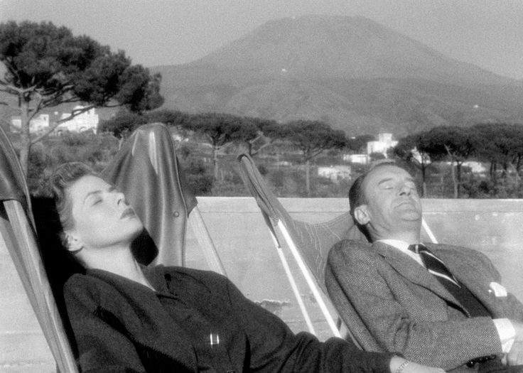 Voyage to Italy Film directors were not alone. With the rise of leisure culture throughout the 20th century, holidaymakers flocked to the Mediterranean in their droves – pilgrims in search of the holy holiday trinity of sun, sea and sand. Two such voyagers, if sightseers rather than sun-worshippers, are Katherine and Alexander Joyce (Ingrid Bergman and George Sanders), a prim English couple holidaying in Naples in Roberto Rossellini's Journey to Italy (1954).