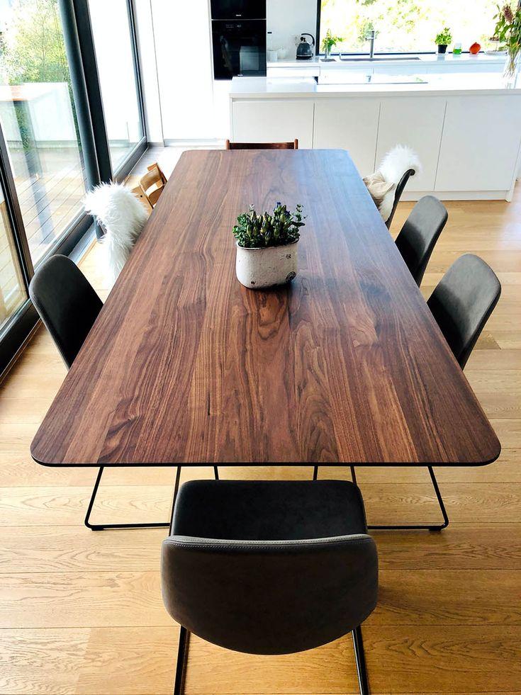 Kundentische Nussbaum Tisch Tisch Esstisch Nussbaum