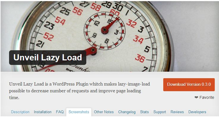 Lazy Load plugins