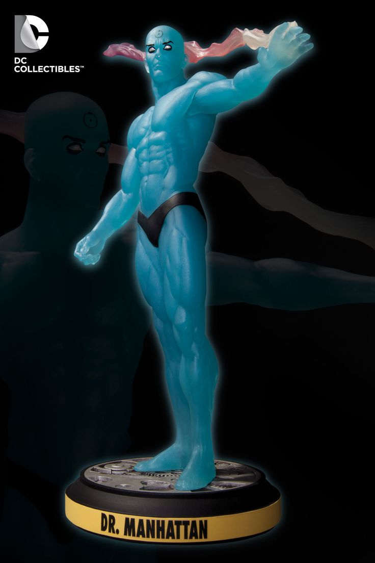 best images about watchmen trap music the dc collectibles before watchmen dr manhattan statue