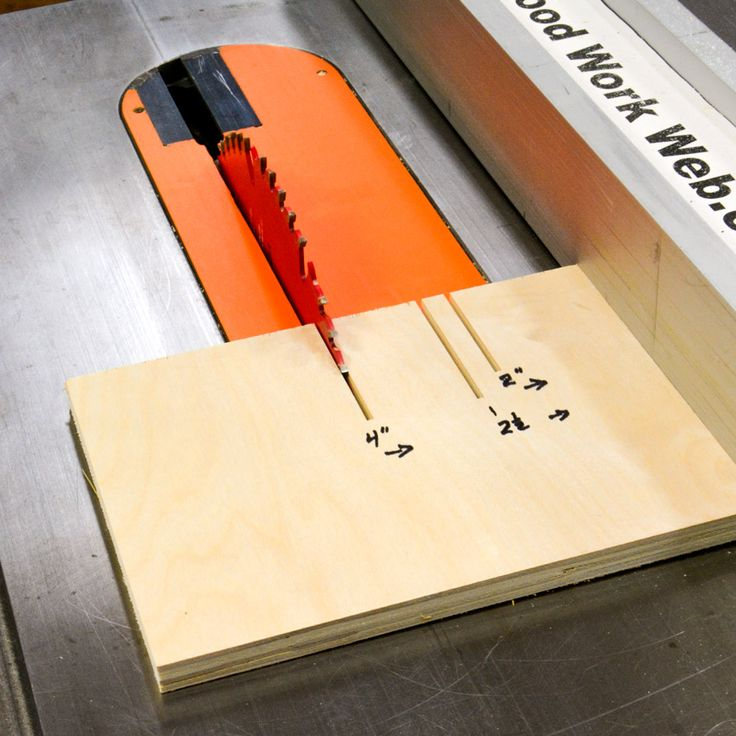 Table Saw Slider as another alternative to cutting a zero clearance insert for safely and easily cutting thin strips of wood. #woodworking #tablesaw