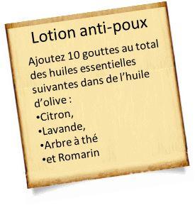 lotion pour se débarrasser des poux