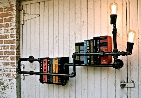 As if the pipes weren't enough.  Lightbulbs at the end?  Amazing.