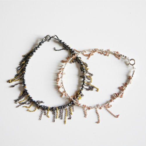 frynse armbånd sølv,guld,rosaguld mix/ fringe bracelets, silver,gold,rose gold mix.