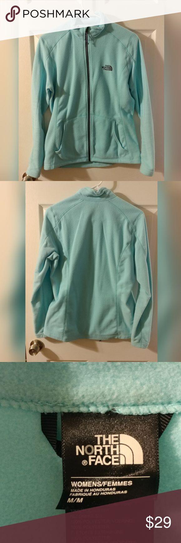 Womens North Face Zip Up Fleece Light Blue North Face Fleece In Great Condition North Face Jackets & Coats