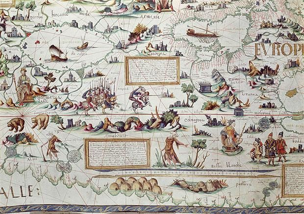 Highlights from a new exhibition of historic maps, opening this week at the   British Library.
