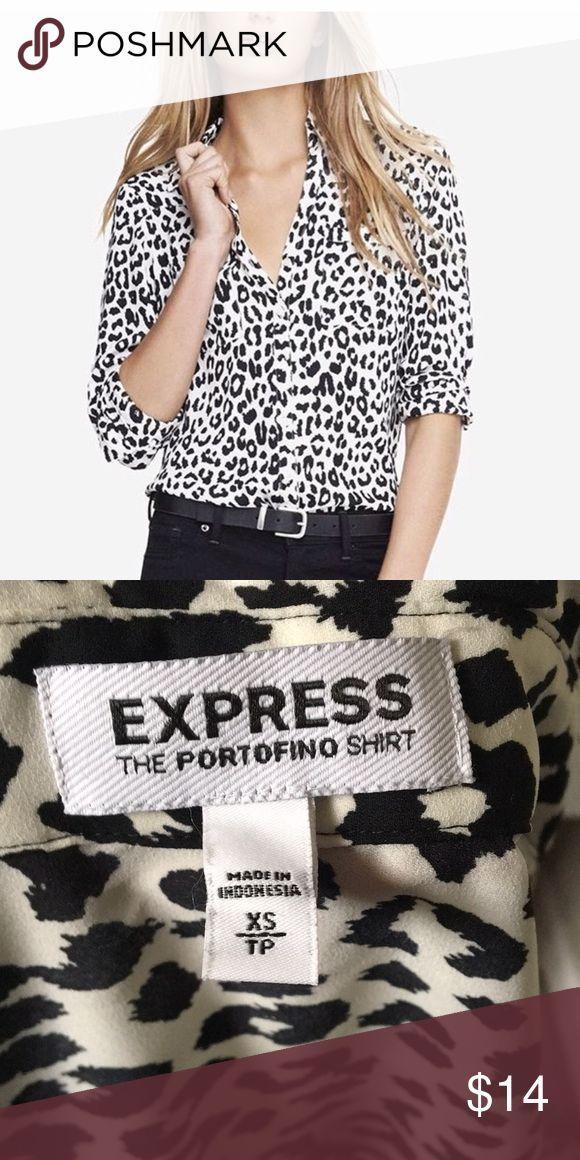 Express portofino shirt size xs Black and white animal print portofino shirt by … – Dell Fingerfood