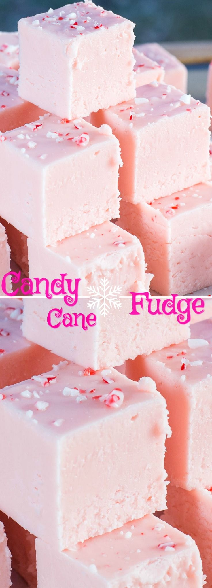 This Candy Cane Fudge recipe is incredible! Creamy, smooth and loaded with candy cane flavour! A must make Holiday Treat.