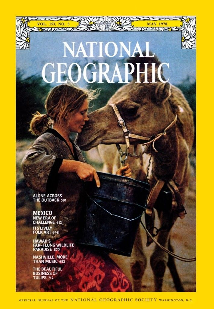 Rick Smolan's photo of Robyn Davidson was featured on the cover of the May 1978 issue of National Geographic.