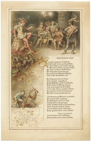 Lied van Mephistopheles in Auerbachs Keller. Es war einmal ein König, der hatt' einen grossen Floh, den liebt' er gar nicht wenig als wie seinen eignen Sohn.