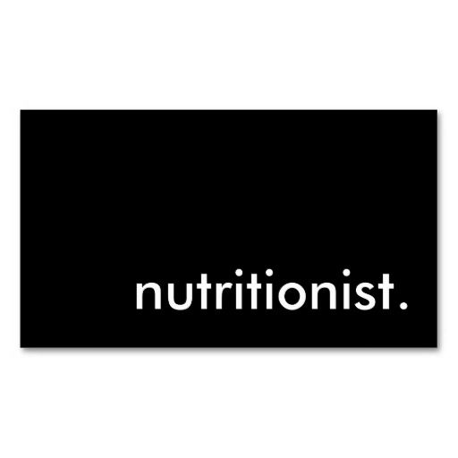 nutritionist. business card templates
