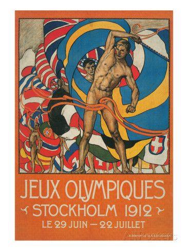 Poster for Stockholm Olympics 1912 Kunstdruck bei AllPosters.de