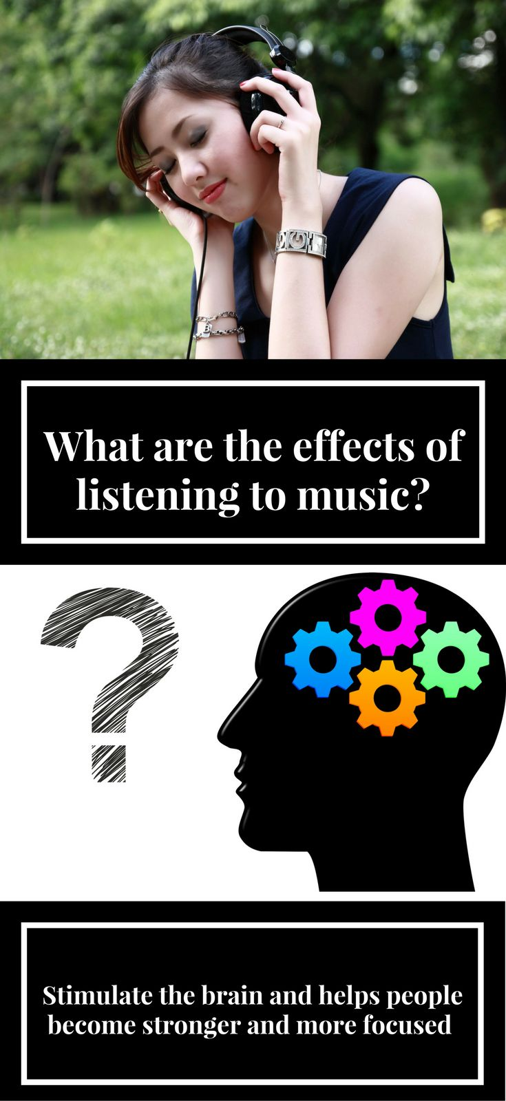 the positive effects of music Though it's sometimes hard in studies like this to separate out the effects of music versus other factors, like the positive impacts of simple social contact, at least one recent study found that music had a unique contribution to make in reducing anxiety and stress in a children's hospital, above and beyond social contributions.