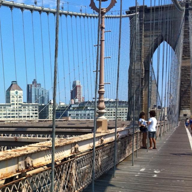 New York, NY.  The Brooklyn Bridge.: Brooklyn Bridge