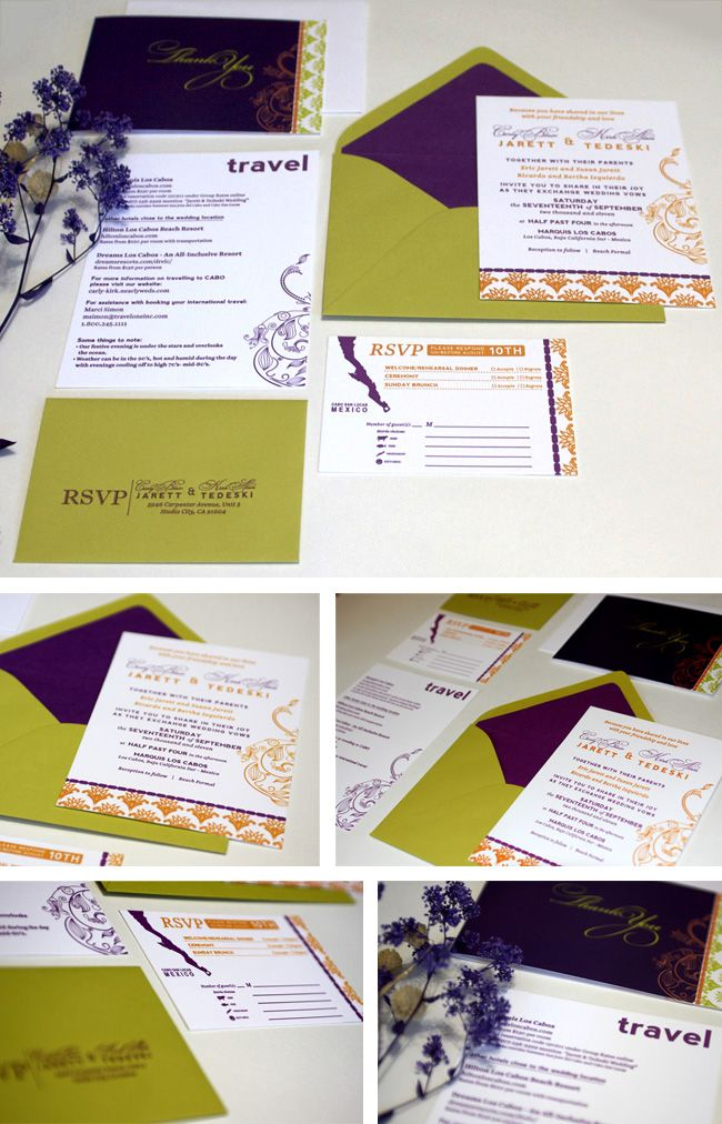 Destination Wedding invitation set