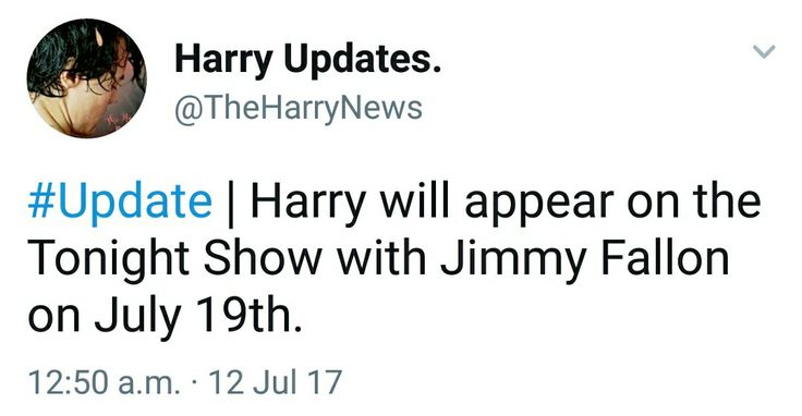 Harry on the Tonight Show with Jimmy Fallon on July 19th. // yesyesyes