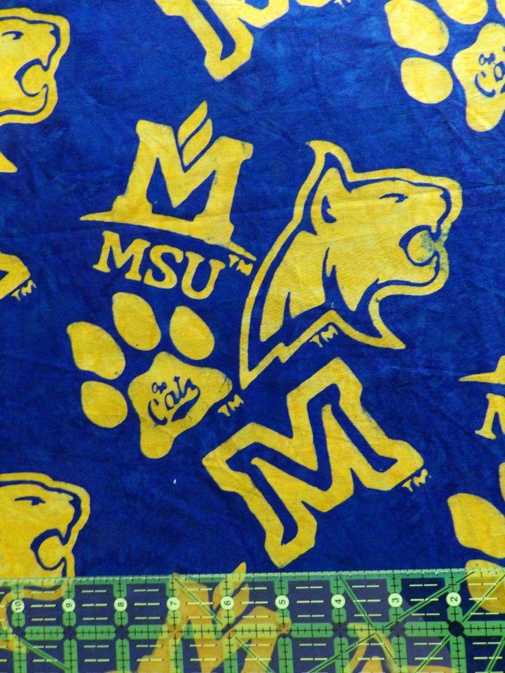 Hoffman Fabrics Cobalt Montana State University MSU Bobcats Bali Batik Fabric N2916-17-Cobalt