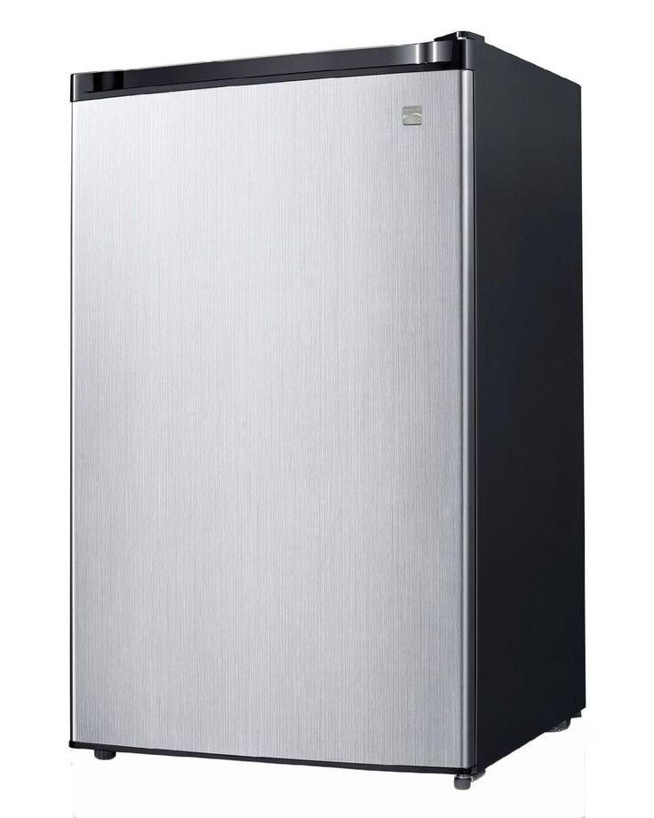4.4 Cu.Ft. Compact Refrigerator w/ Freezer Stainless Steel Mini Fridge Dorm New #44CuFtCompactRefrigerator