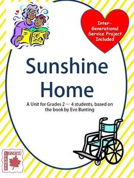 Sunshine Home with Inter-Generational Service Project - Great for Valentine's Day activity or Grandparent's Day in February $