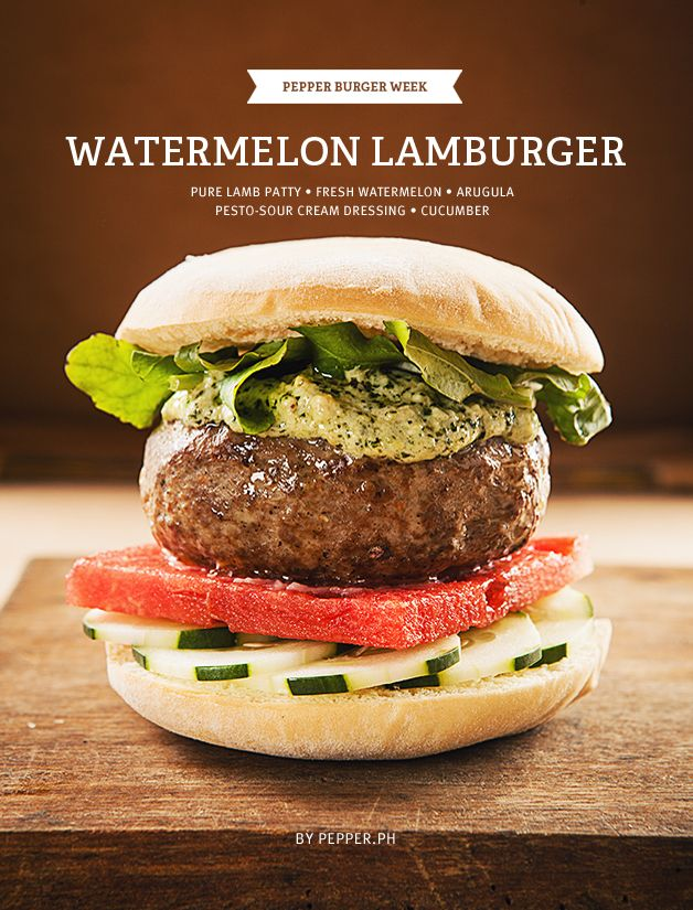 Greek Out to this Lamburger with Watermelon, Arugula, and ...