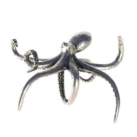 Pewter Octopus Napkin Ring alfrescoemporium.com.au $44.95