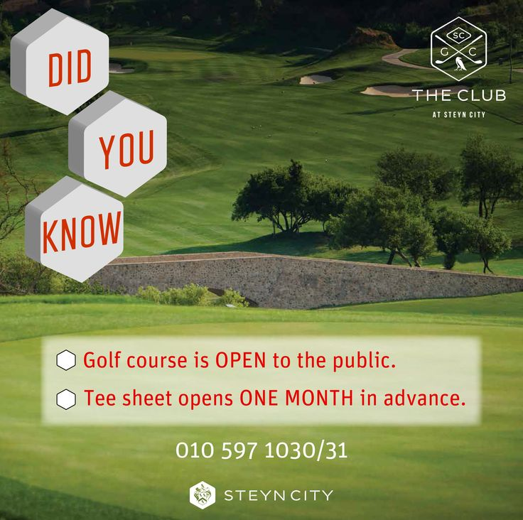 Call 010 597 1030/31 to book your tee time this March