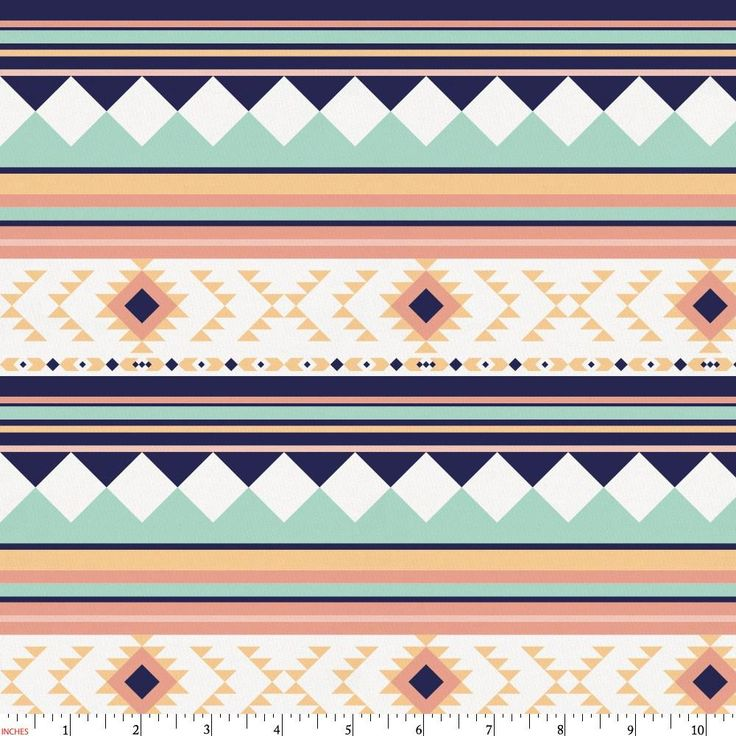 Navy and Mint Aztec Stripe Fabric by Carousel Designs.