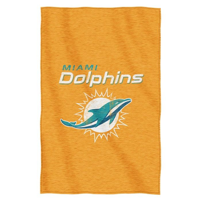 [[start tab]] Description Think of your favorite, softest, warmest sweatshirt big enough to wrap up your whole body. This Miami Dolphins NFL Sweatshirt Throw does exactly that. The super soft inside o