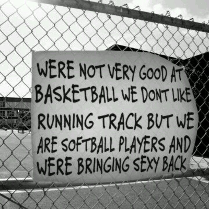 We are not very good at Basketball. We don't like Running Track. But we are Softball Players,  and we are bringing sexy back!