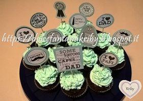 Cupcake. Decorazioni personalizzate per festa del papà. *Dolce Fantasia Kriby*