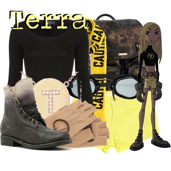 Terra from Teen Titans by likeghostsinthesnow, via Polyvore