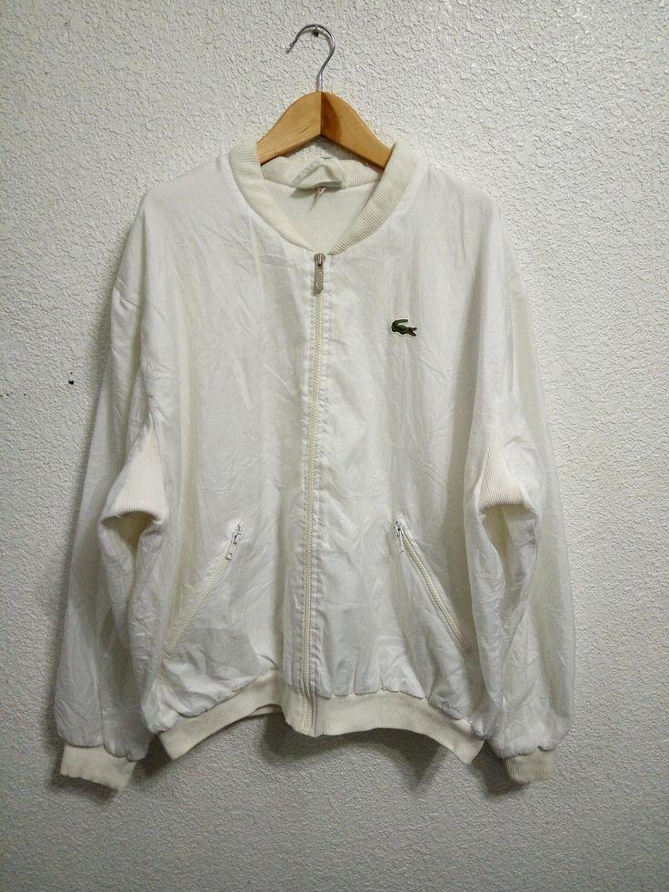 Sale Vintage Lacoste Trainer Jacket White Colour by GoShopVintageStore on Etsy