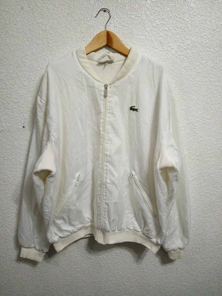 Sale Vintage Lacoste Trainer Jacket White Colour by GoShopVintageStore on Etsy