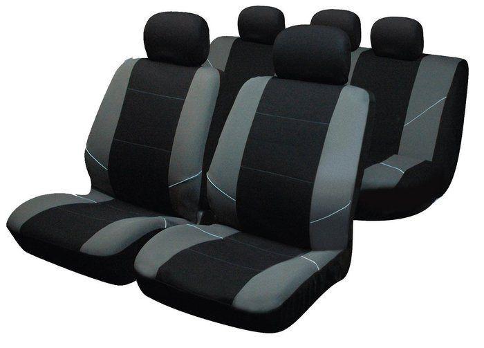 Fundas asientos coche de la marca Sakura, de nylon, en color plata y negro, adaptables a casi todo tipo de asientos, incluso con airbags laterales. http://recambiosparaelcoche.com/products/fundas-asientos-coche-sakura-en-color-plata-y-negro/
