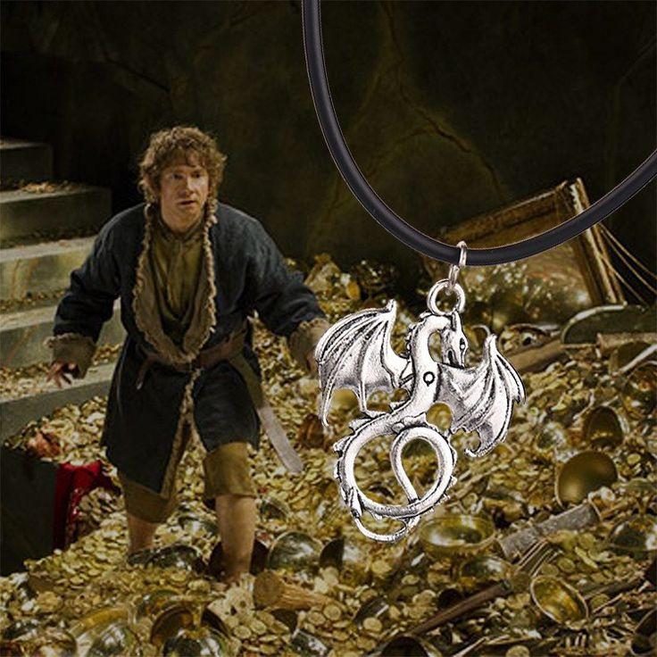 The Hobbit Dragon Necklace  //Price: $9.00 & FREE Shipping //     #BilboBaggins #lordoftherings #LOTR #thehobbit #hobbit #ExtendedEdition #Tolkien #Sauron #Smeagle #Frodo #myprecious #erebor # gandalfthegrey #filixkili #thehobbitanunexpectedjourney #radagastthebrown #theonering