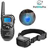 [BEST VERSION] Dog Training Anti Bark Collar Humane With Remote Harmless Control No Harm Vibration Reduce Barking Shock Controller Waterproof Rechargeable Pet Trainer Large & Small Dogs FREE Led Clip