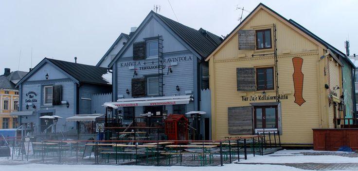 Market square in Oulu, Finland